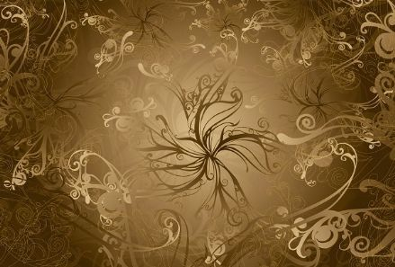 Imagine Gold wall mural
